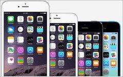 Слева направо: iPhone 6 Plus, iPhone 6, iPhone 5S и 5C. Фото с сайта apple.com
