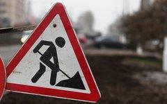 Знак дорожных работ © KM.RU, Алексей Белкин