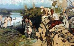 Жильё восточных славян. Фото с сайта wikimedia.org