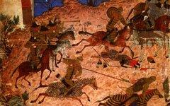 Миниатюра из Шах-наме, конец XIV века. Изображение с сайта nsu.ru