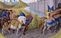 Крестоносцы прибывают в Константинополь. Фото с сайта wikimedia.org