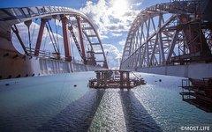 Арочные пролеты Крымского моста на фарватерных опорах. Фото с сайта most.life
