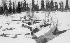 Финские лыжники на позиции. Фото с сайта wikimedia.org