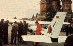 Матиас Руст и его «Сессна-172» на Красной площади в Москве