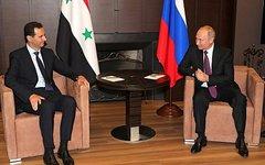Переговоры Владимира Путина с Башаром Асадом