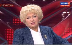 Людмила Нарусова. Стоп-кадр из телепередачи