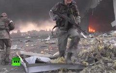 Война в Донбассе. Стоп-кадр с видео