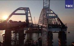Крымский мост. Стоп-кадр с трансляции ТАСС