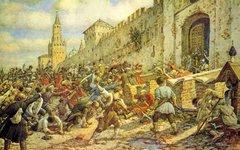 Соляной бунт в Москве, 1648. Худ. Лисснер Э. 1938