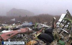 Крушение боинга над Донбассом. Стоп-кадр с видео