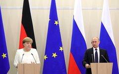 Ангела Меркель и Владимир Путин. Фото с сайта kremlin.ru