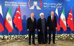 Встреча президентов России, Турции и Ирана. Фото с сайта kremlin.ru