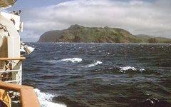 Вид на остров Шикотан
