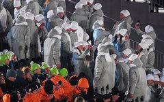 Олимпийские атлеты из России на церемонии открытия