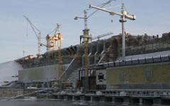 Строительство Богучанской ГЭС © РИА Новости, Александр Кряжев