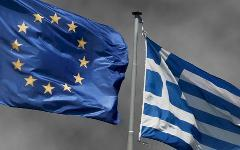 Флаги Европы и Греции. Фото с сайта protesilaos.com