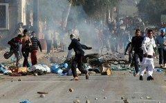 Беспорядки в Тунисе. Фото с сайта kaznews.net