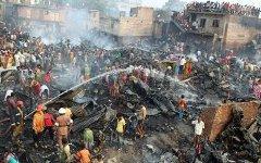 Пожар в трущобах Дакки. Фото с сайта mirkrasiv.ru