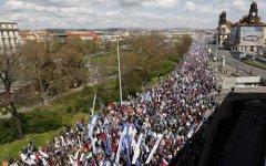 Демонстрация в Праге. Фото с сайта onet.pl