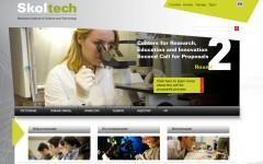 Скриншот главной страницы сайта skolkovotech.ru
