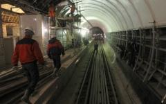 Строительные работы в  метро © РИА Новости, Илья Питалев