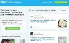 Скриншот главной страницы сайта workspace.skype.com