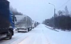 Трасса М-10. Скриншот с видео в YouTube