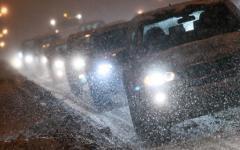 Пробки из-за снегопада © РИА Новости, Руслан Кривобок