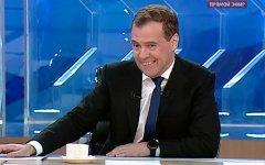 Дмитрий Медведев. Стоп-кадр трансляции телеканала «Россия 1»
