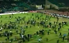 Массовая драка на футбольном матче в Египте
