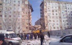 Обрушение дома в Астрахани. Фото пользователя Twitter (@kykyllionok)