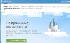 Скриншот с сайта windowsazure.com