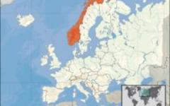 Норвегия на карте мира