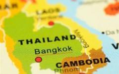 Бангкок на карте Таиланда