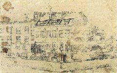 Дом Ван Гога в Брикстоне. Рисунок художника. Фото с сайта wikipaintings.org
