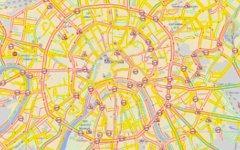 Пробки на Третьем транспортном кольце 7 марта. Скриншот с «Яндекс.Пробок»