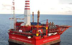 Платформа «Приразломная», фото с сайта www.gazprom.ru