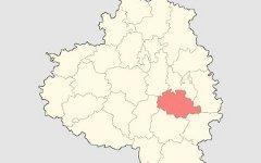 Богородицкий район на карте Тульской области. Изображение с сайта wikipedia.org