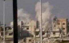 Обстрел Хомса. Стопкадр видео очевидцев
