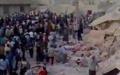 Последствия взрыва в Хаме. Кадр из видеоролика с Youtube