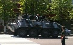 Внутренние войска в Днепропетровске. Фото: golos.ua