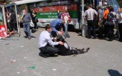 После взрыва в Днепропетровске. Фото с сайта vgorode.ua