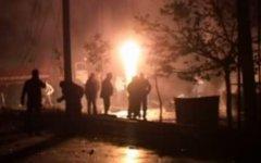 Место двух взрывов. Кадр с видео РГВК «Дагестан»