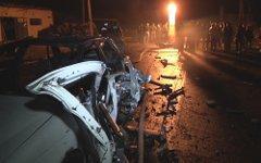Последствия теракта в Махачкале. Фото с сайта 05.mvd.ru