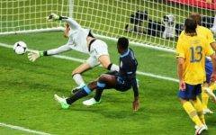 Гол англичан в ворота украинцев. Фото с сайта uefa.com