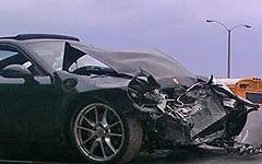 Автомобиль Porche Линдси Лохан. Фото с сайта tmz.com