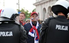Фанаты и полиция © РИА Новости, Владимир Песня