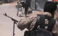 Бойцы Свободной армии Сирии. Стоп-кадр с видео в YouTube