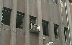 Здание после взрыва в Дамаске. Стоп-кадр с видео в YouTube