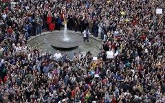 Демонстранты в Испании. Фото с сайта wlna.info